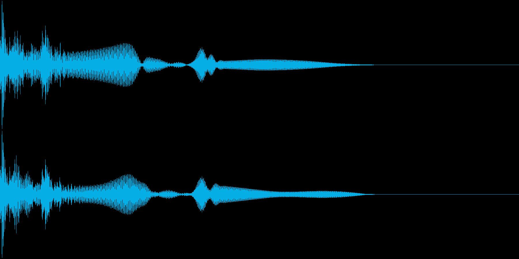 Break ブロック崩しのボールの音 2の再生済みの波形