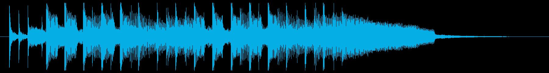 オープニングに合う可愛いアップテンポ曲の再生済みの波形