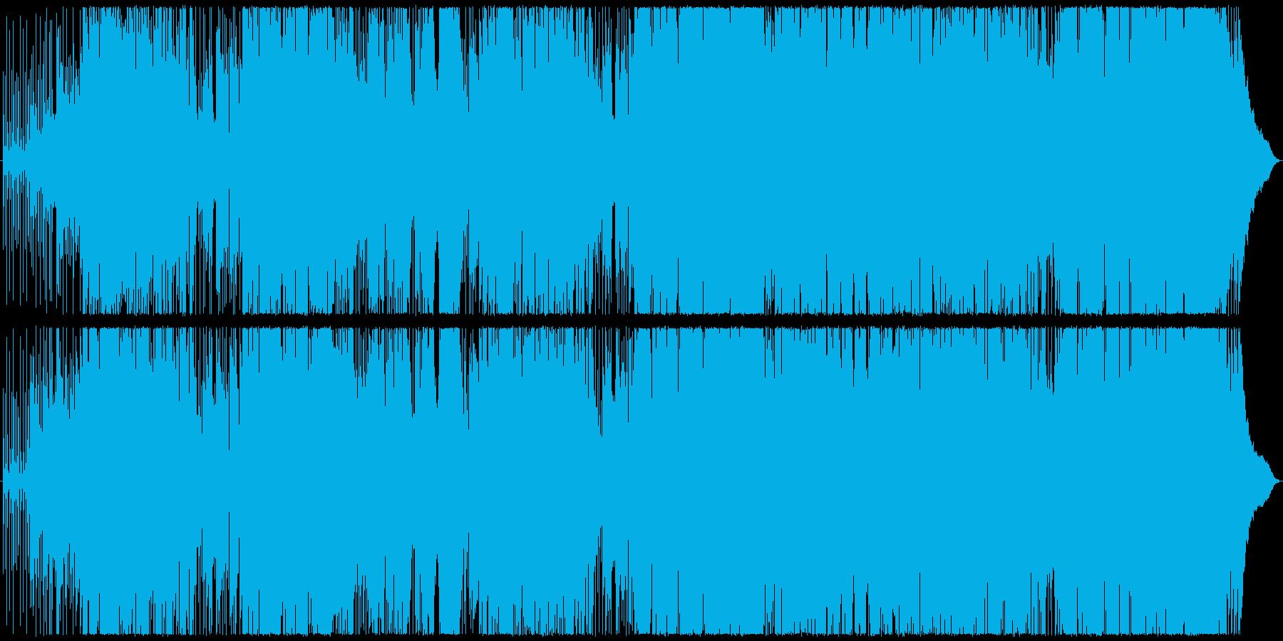 ピアノ主体のポップスの再生済みの波形