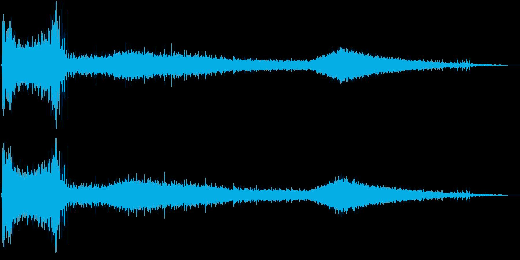 水洗トイレを流す音を、自分視点で聴ける…の再生済みの波形