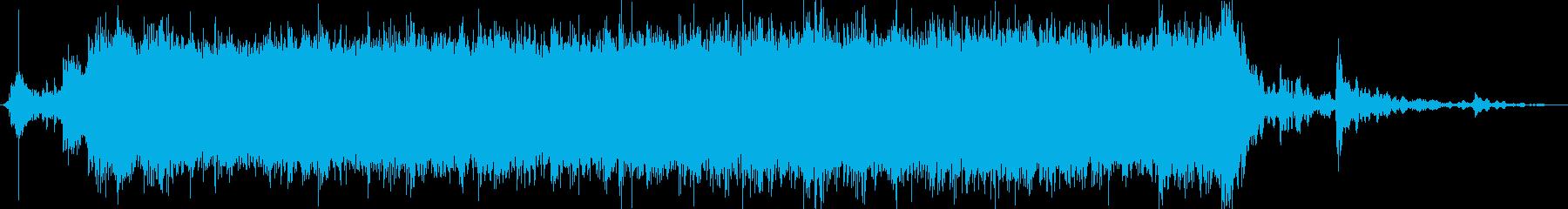 ザー(シャワーの音)の再生済みの波形