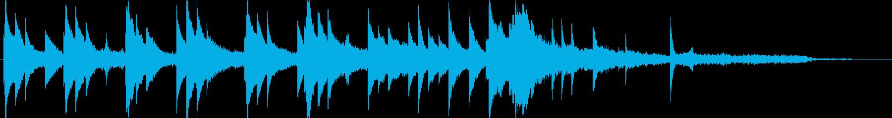 自然の恵みをイメージした短いピアノ曲の再生済みの波形