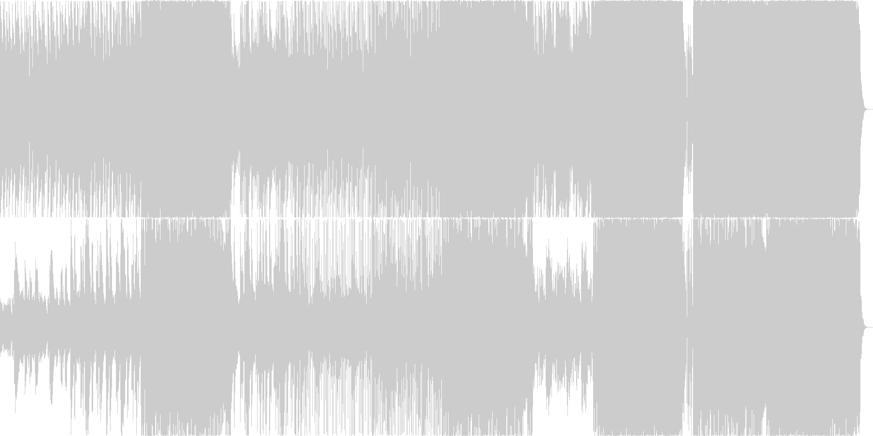 ゆったりテンポのエンディング向き楽曲の未再生の波形