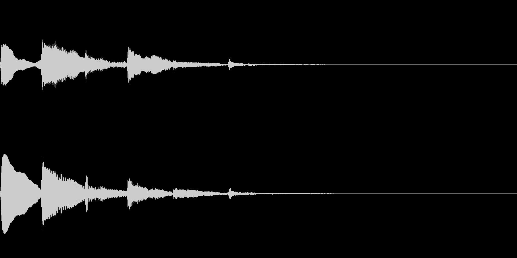 ハープの分散和音によるサウンドロゴの未再生の波形