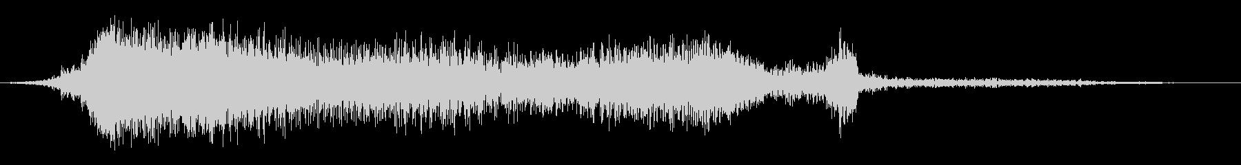 フランジ付きフレアの未再生の波形