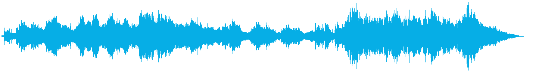 オーケストラの弦とハープに導かれた...の再生済みの波形