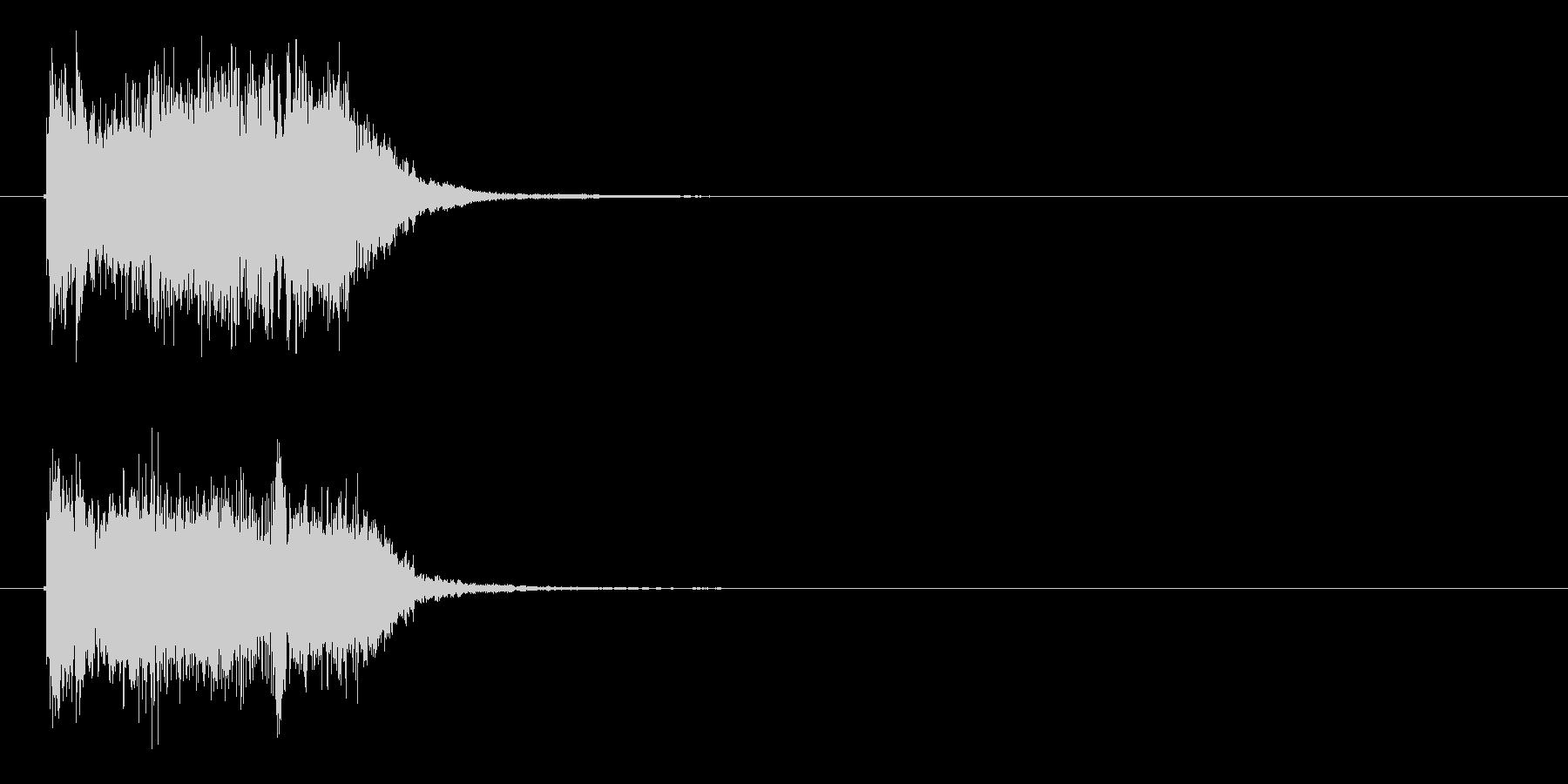 一発ものの効果音的な音楽の未再生の波形