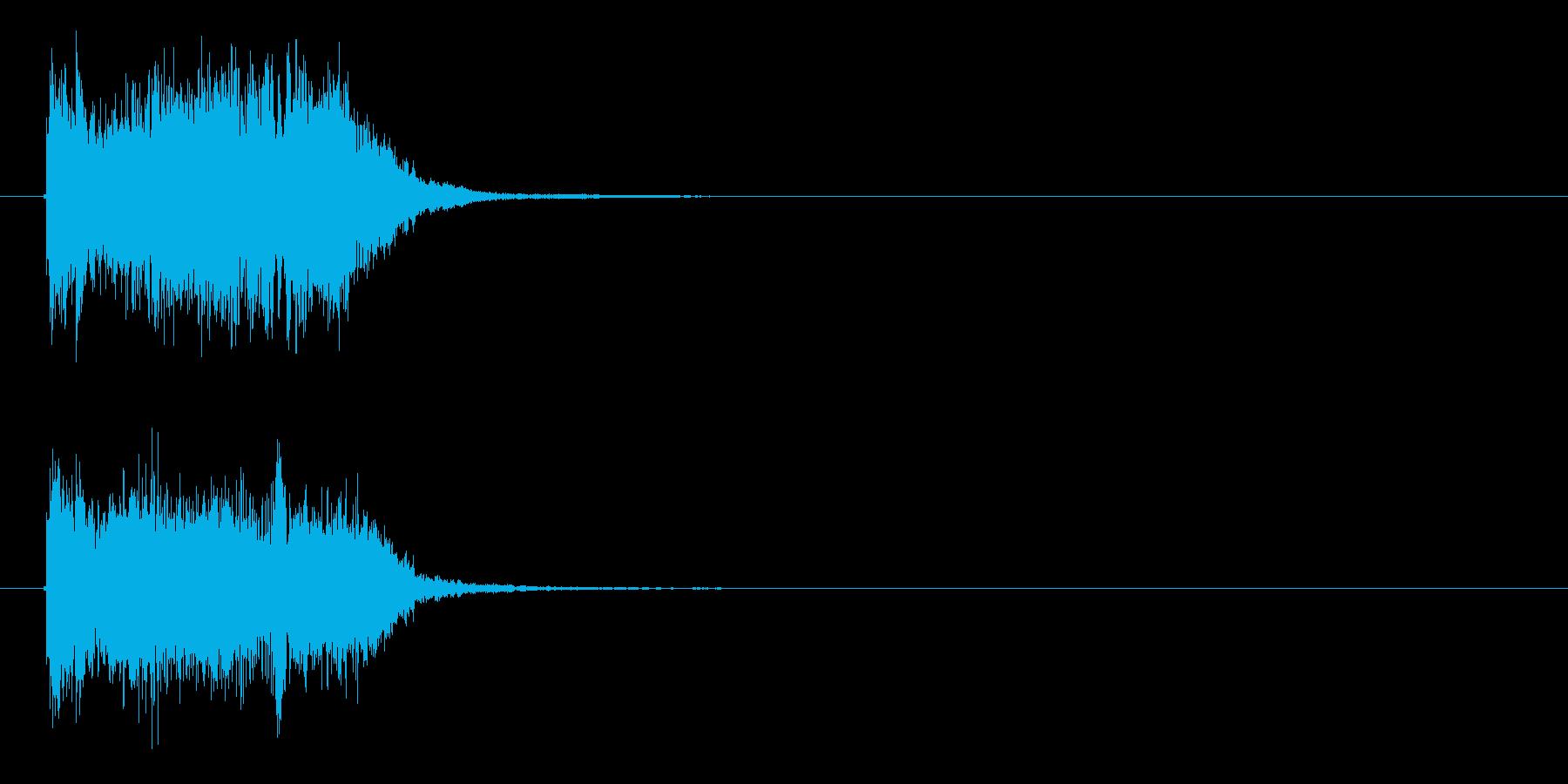 一発ものの効果音的な音楽の再生済みの波形