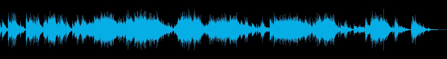 美しく感動するピアノ曲の再生済みの波形