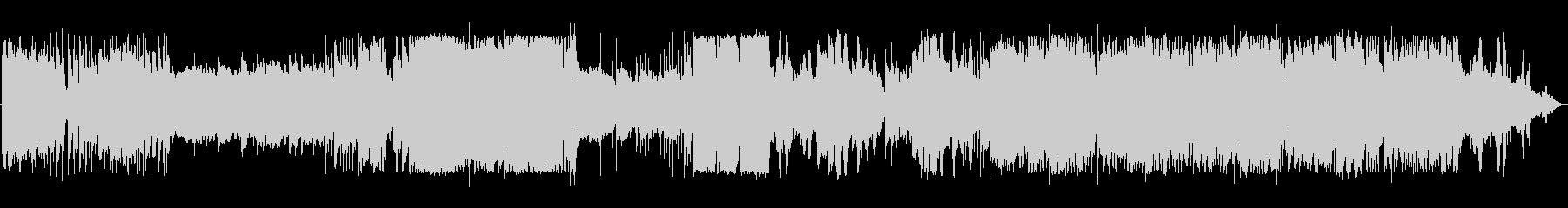 グラムロック風の変化ある派手なバンド演奏の未再生の波形