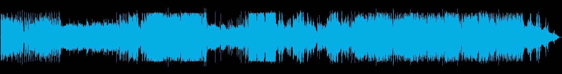 グラムロック風の変化ある派手なバンド演奏の再生済みの波形