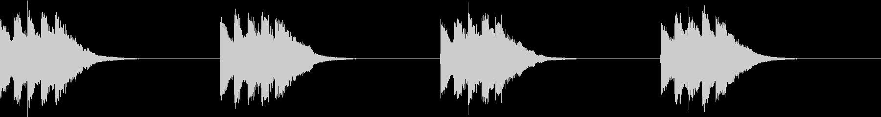 シンプル ベル 着信音 チャイム A13の未再生の波形