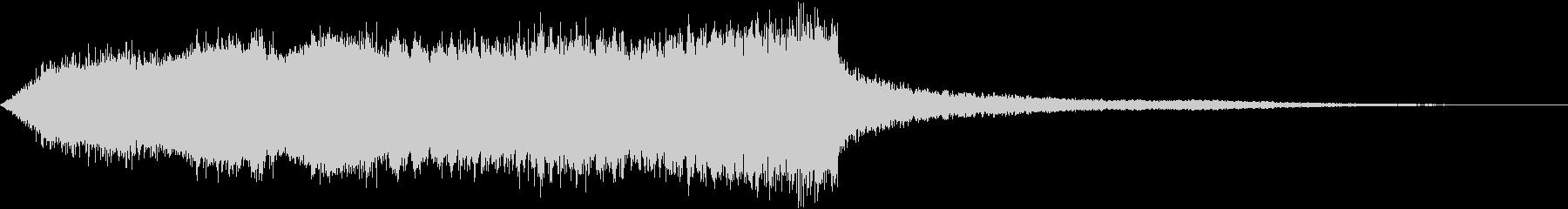 複雑な電子音の調和の未再生の波形