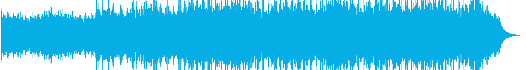 感動的な背景映画サウンドトラックの再生済みの波形