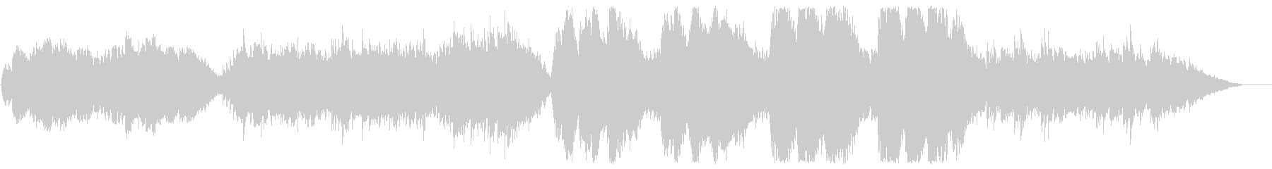 広がりのあるストリングスが特徴的なBGMの未再生の波形