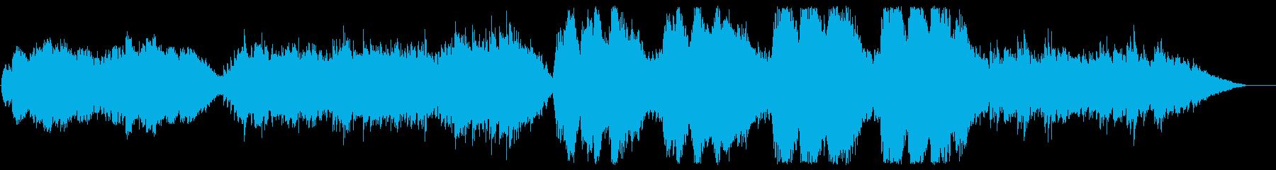 広がりのあるストリングスが特徴的なBGMの再生済みの波形