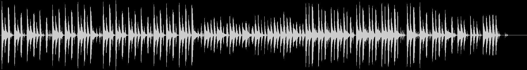 おとぼけ風な短い曲の未再生の波形