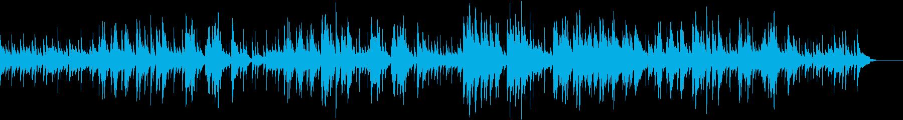 マリンバがまどろみを誘うボサノバの再生済みの波形