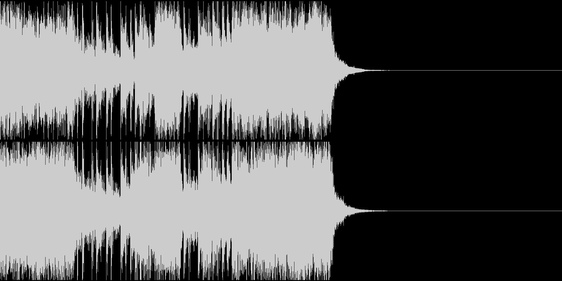アグレッシブなドラムギタージングル、CMの未再生の波形