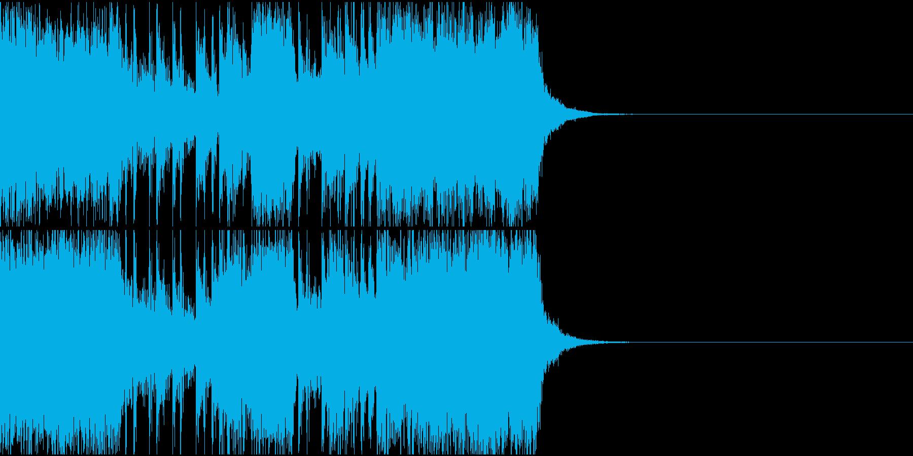 アグレッシブなドラムギタージングル、CMの再生済みの波形