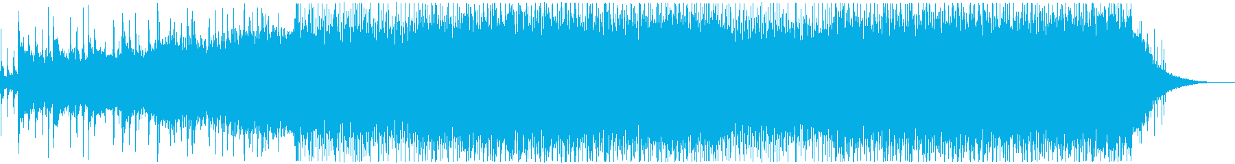 美しいピアノから始まるオープニングEDMの再生済みの波形