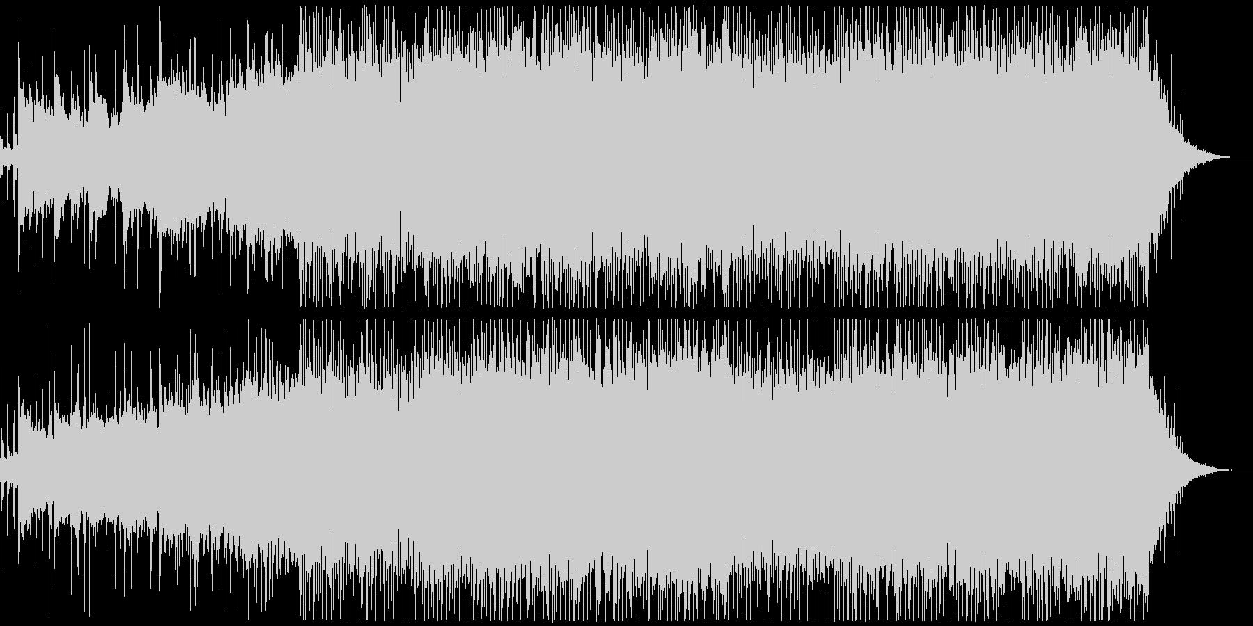 美しいピアノから始まるオープニングEDMの未再生の波形