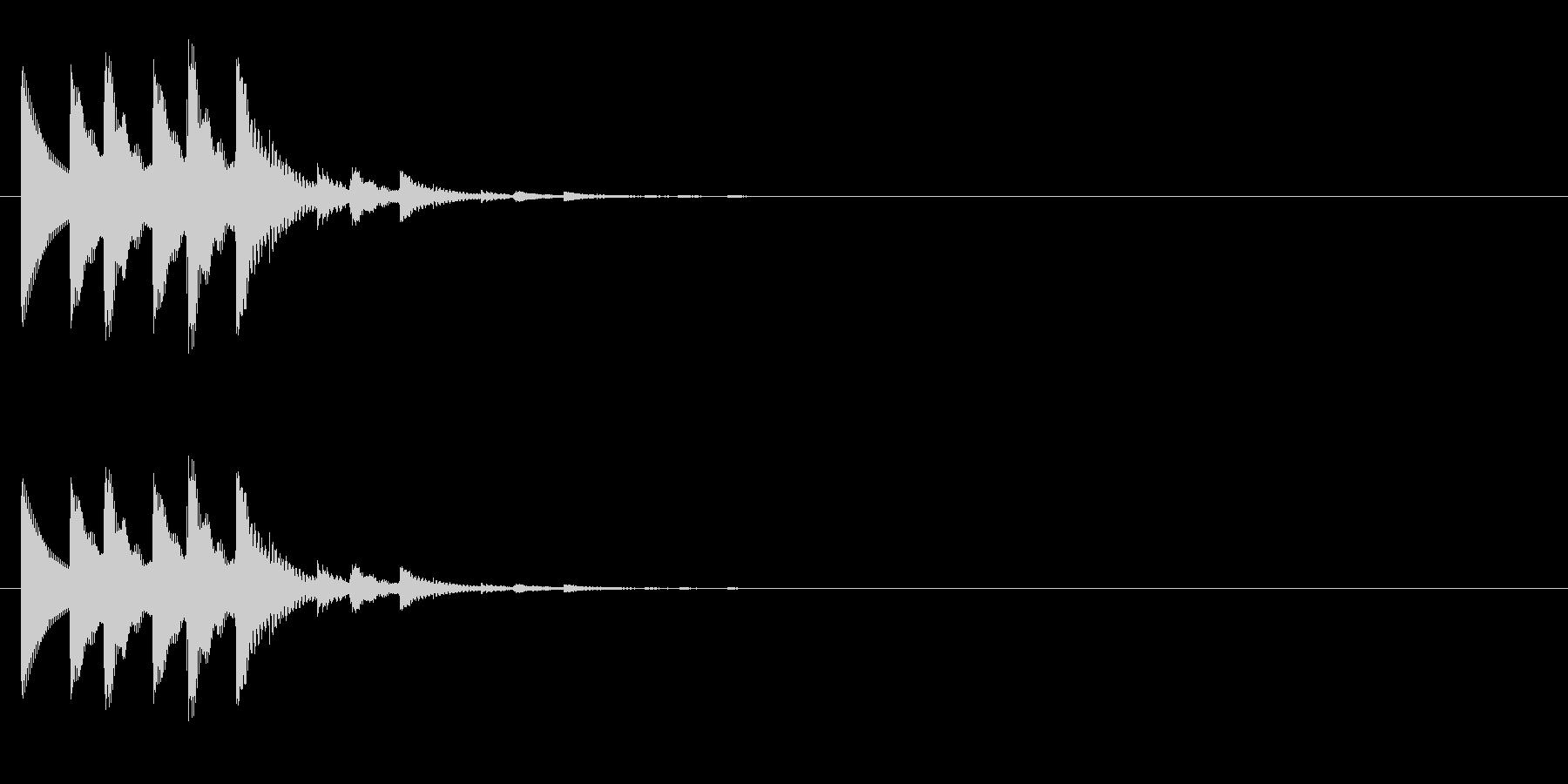 チャリチャリチャリーンなコイン獲得の音5の未再生の波形