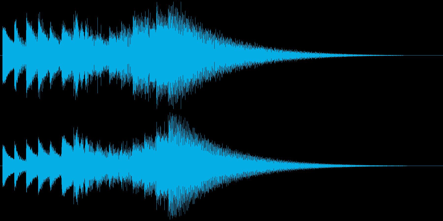 キラキラリーン ゆっくり上昇(鉄琴風)の再生済みの波形