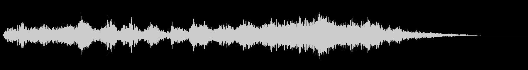 ベッドゴーストリーハウルの昇順の未再生の波形