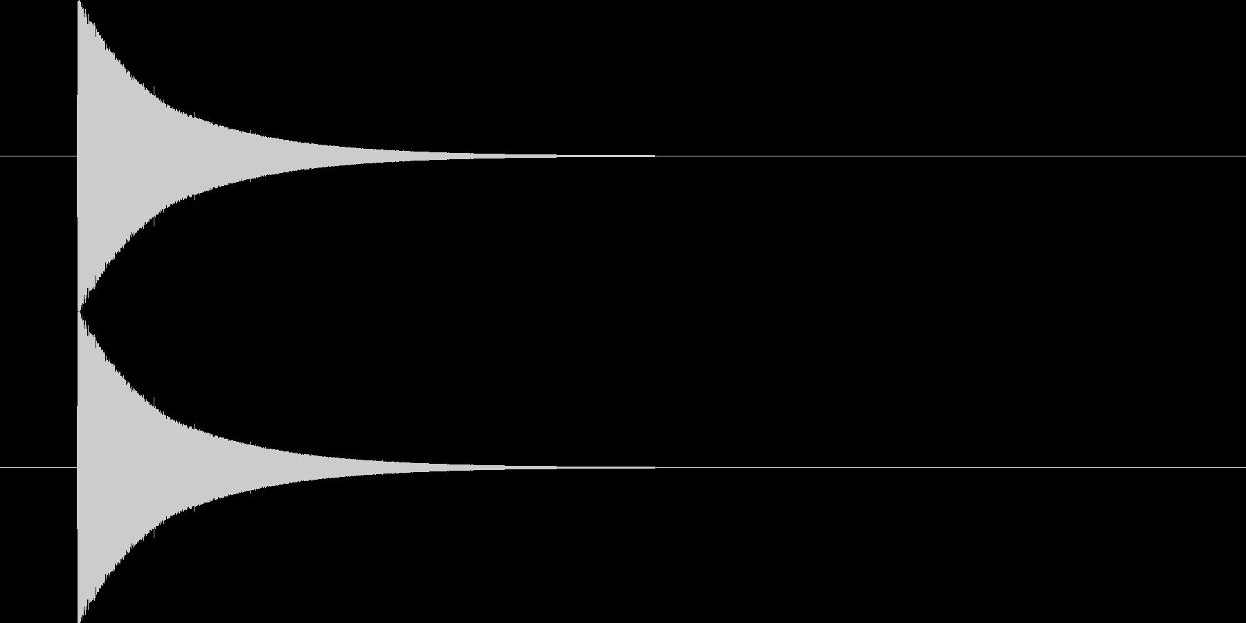 ビンタの音の未再生の波形