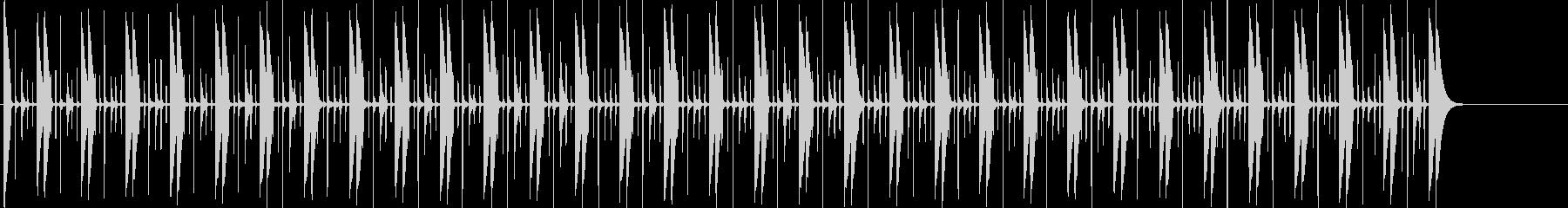 スイングコンガのビートの未再生の波形