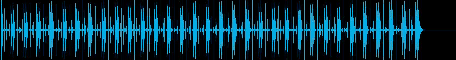スイングコンガのビートの再生済みの波形