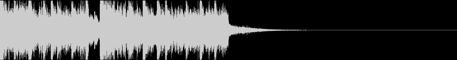 ダークなエレクトロ/サウンドロゴの未再生の波形