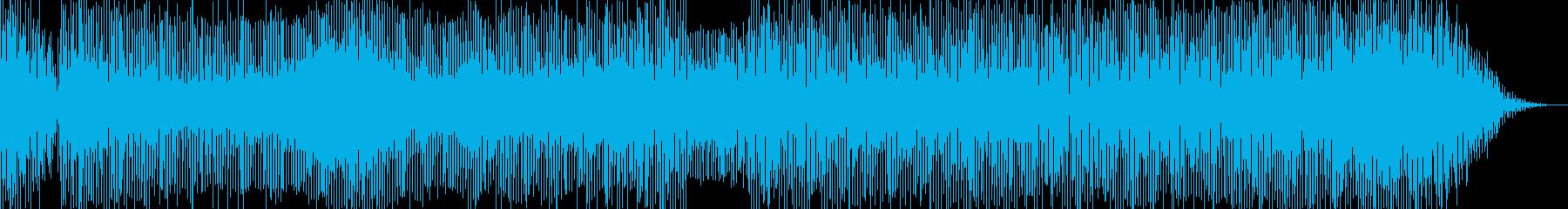 アフリカンなエレクトロニカ音楽の再生済みの波形