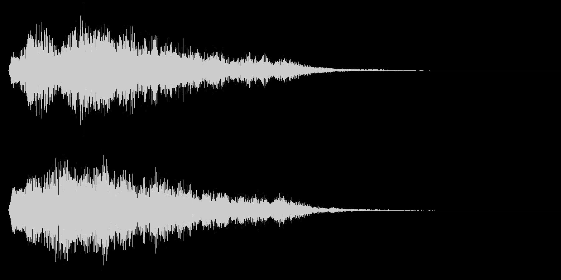 古いパソコンの起動音風ジングル3の未再生の波形