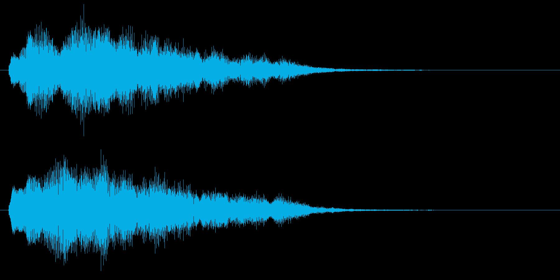 古いパソコンの起動音風ジングル3の再生済みの波形