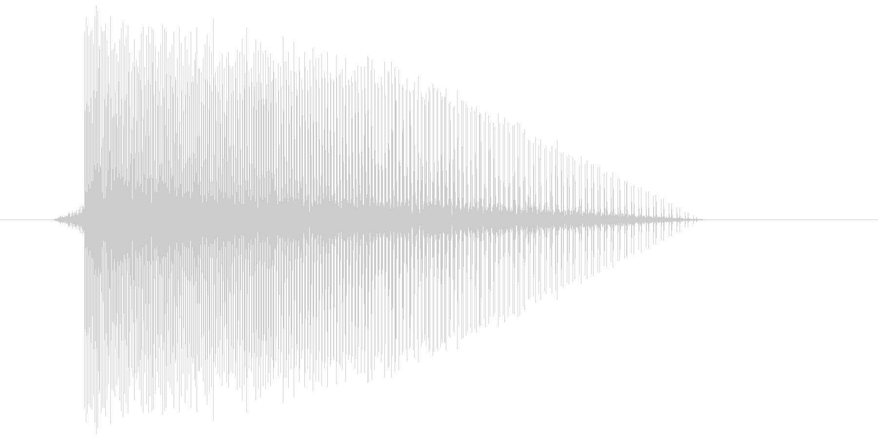 ゲーム(ファミコン風)レーザー音_007の未再生の波形