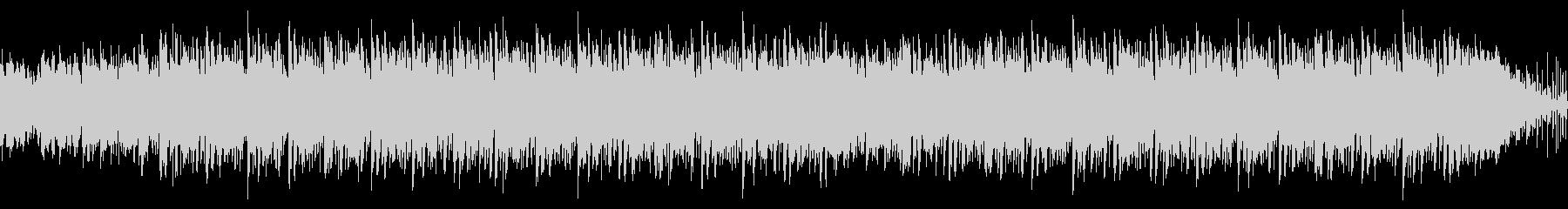 ウクレレと蝉の声の夏らしいループの未再生の波形