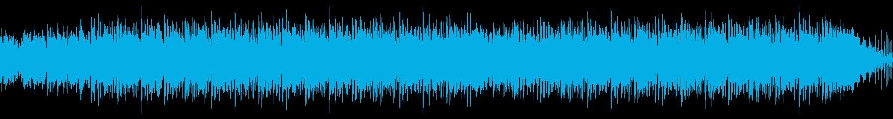 ウクレレと蝉の声の夏らしいループの再生済みの波形