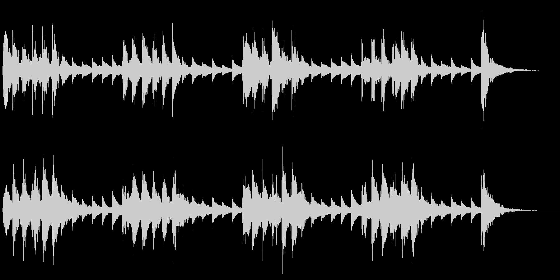 穏やかで可愛らしい小編成オーケストラロゴの未再生の波形