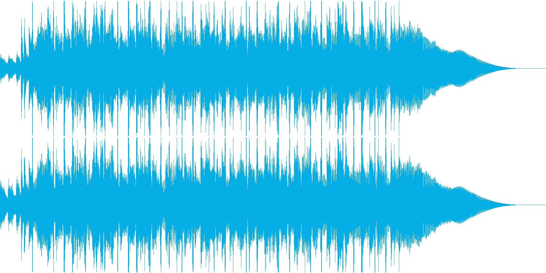 古典的で軽快なロックンロールの再生済みの波形