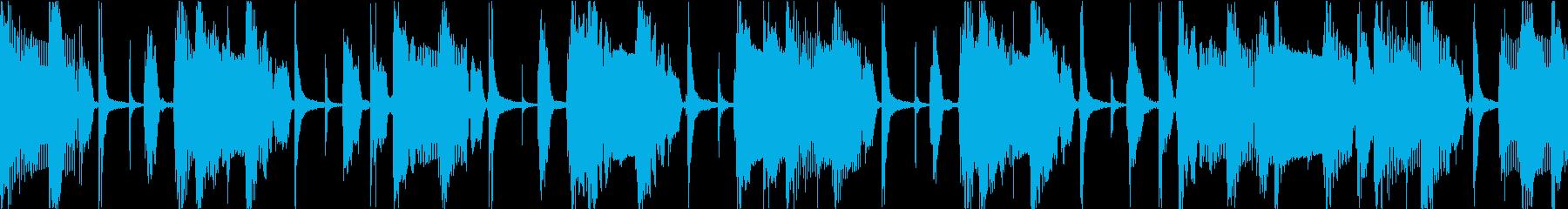 レゲエ風のコミカルBGMの再生済みの波形