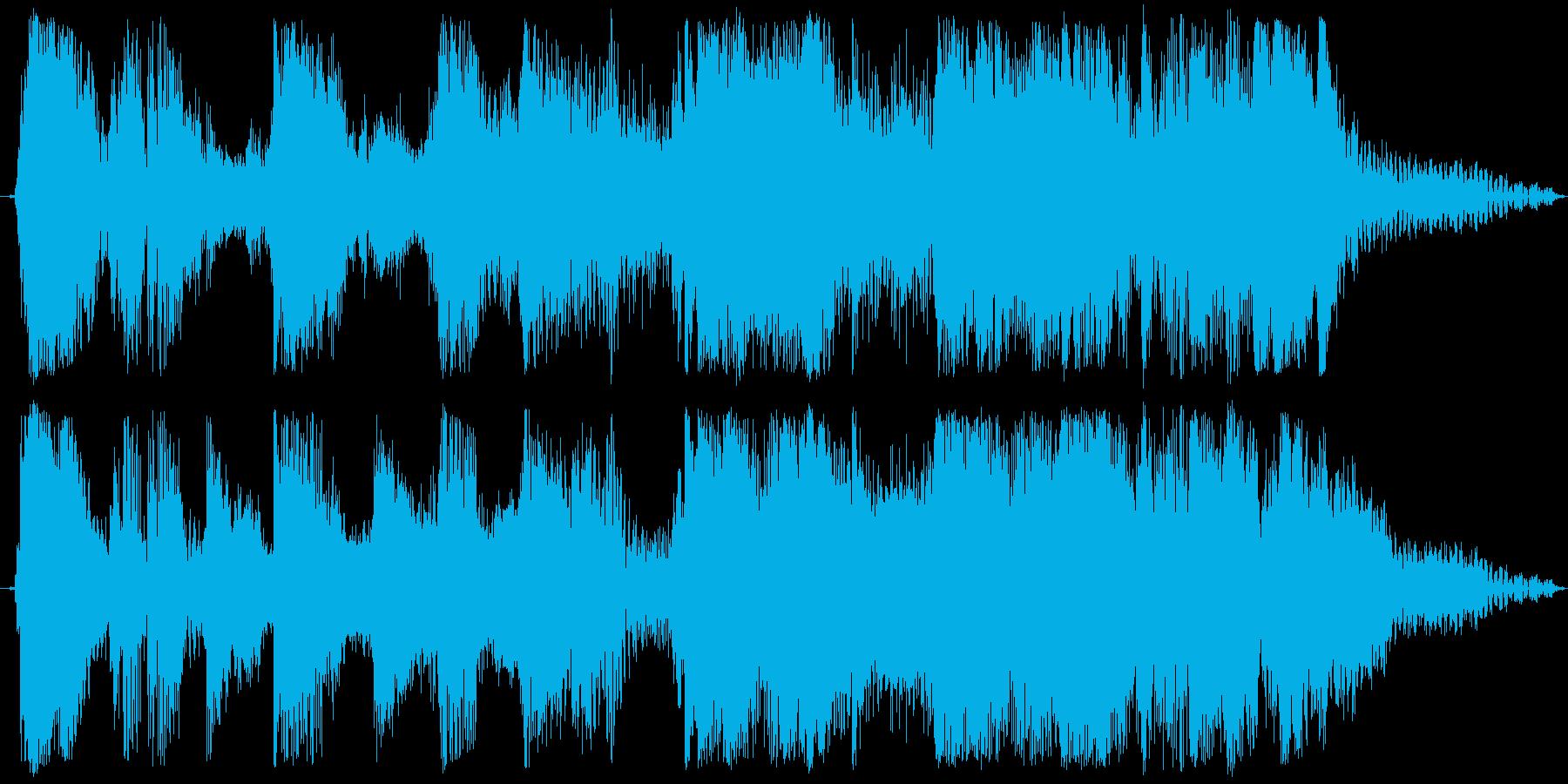 ブラス&ギターのファンク系ジングルの再生済みの波形