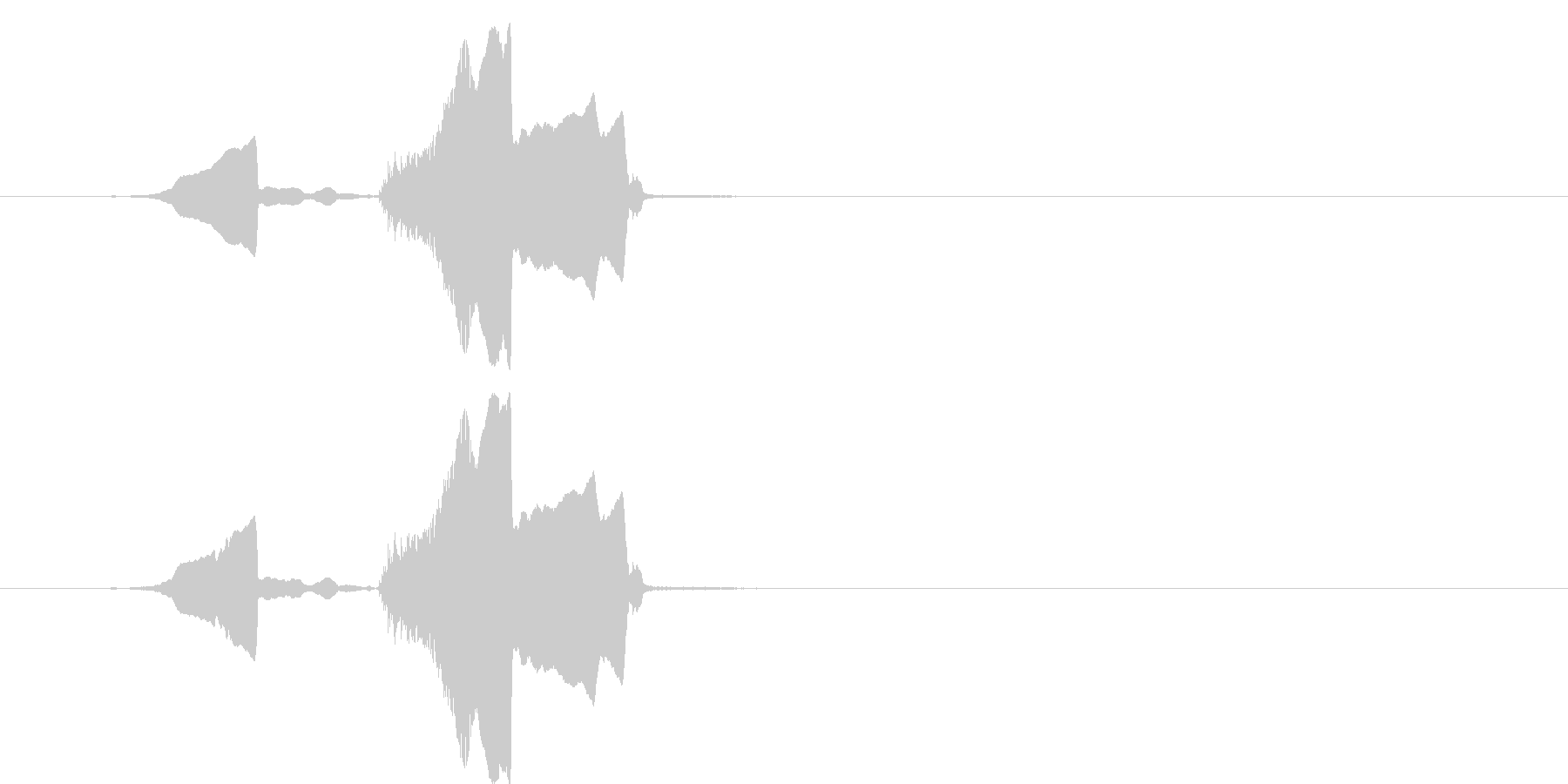 コヨーテハウル、シングル。中程度の視点。の未再生の波形