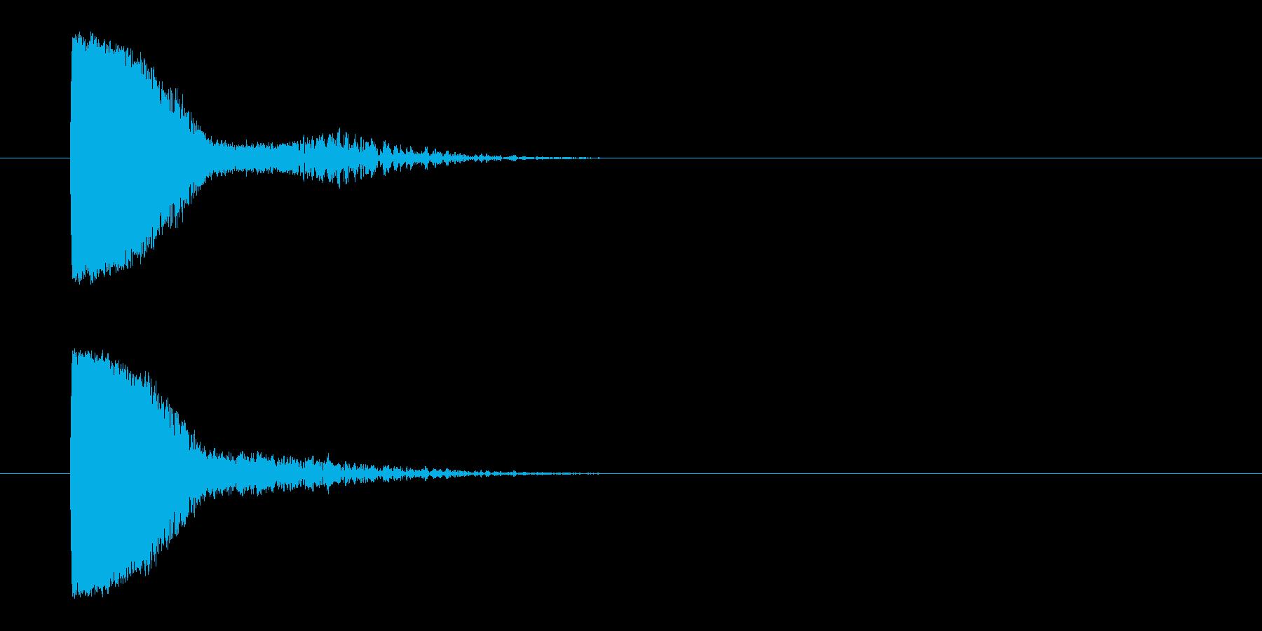 レーザー光線銃-銃声の再生済みの波形