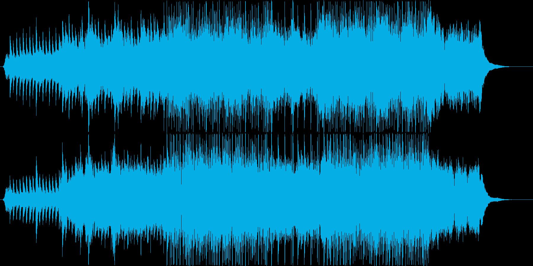 張り詰めた空気の静かな会話シーンの再生済みの波形