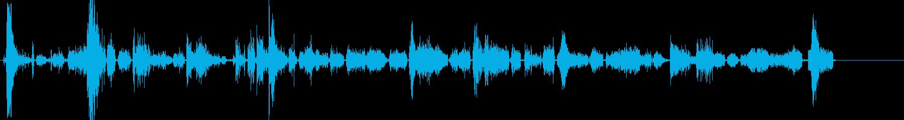 タイガーのうなり声とうなり声の再生済みの波形