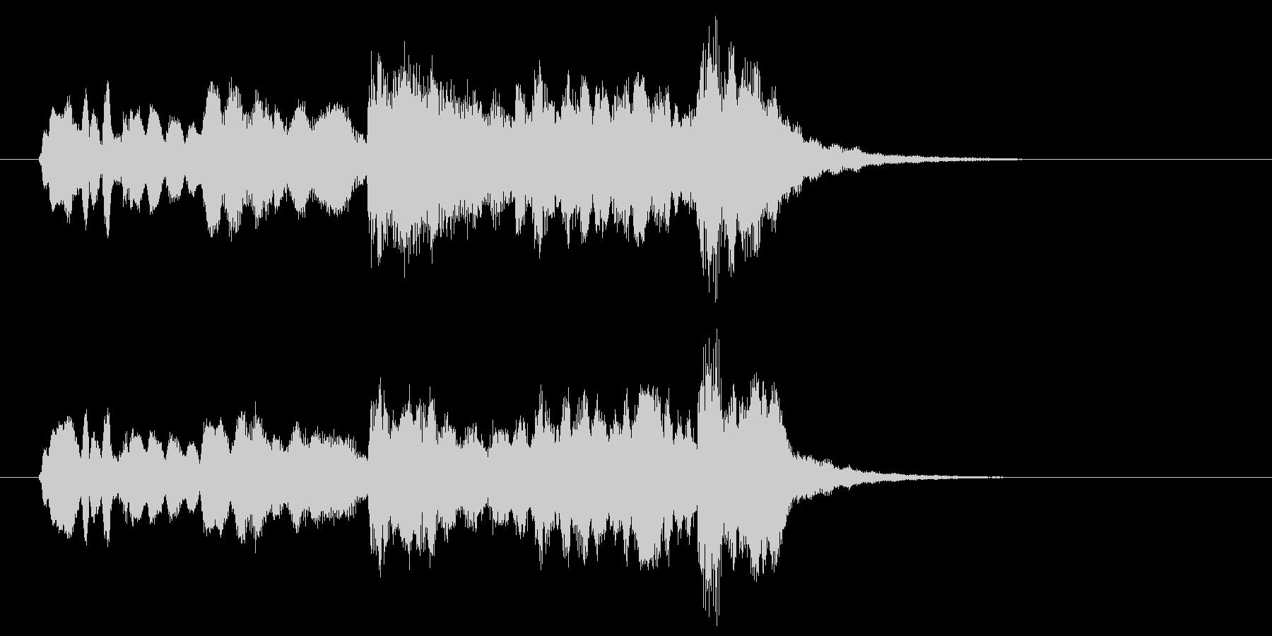 笛とストリングスがワンフレーズを奏でる曲の未再生の波形