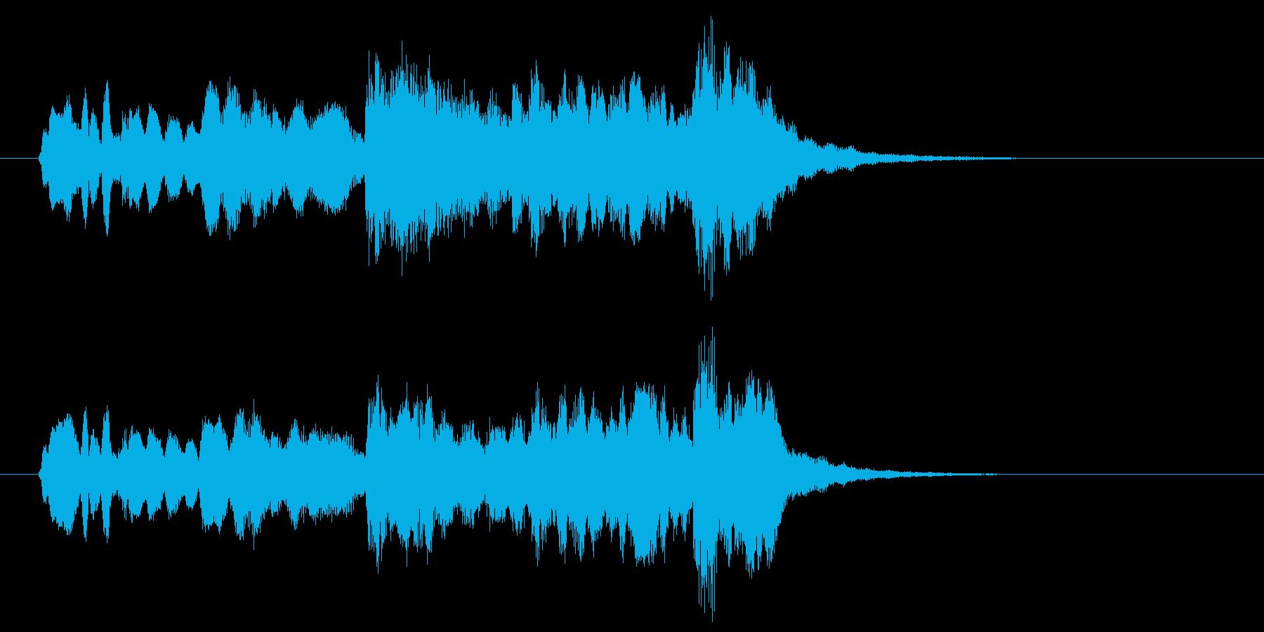 笛とストリングスがワンフレーズを奏でる曲の再生済みの波形