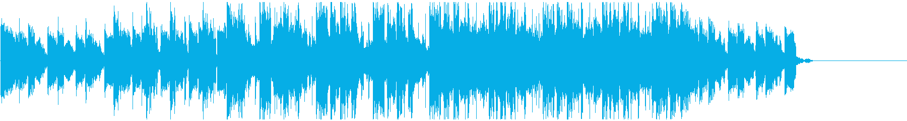 ジングル、CMなどの映像BGMにの再生済みの波形
